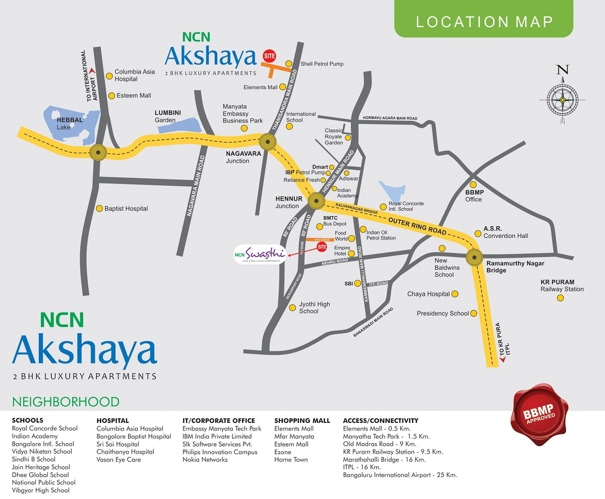 NCN Akshaya Location Map