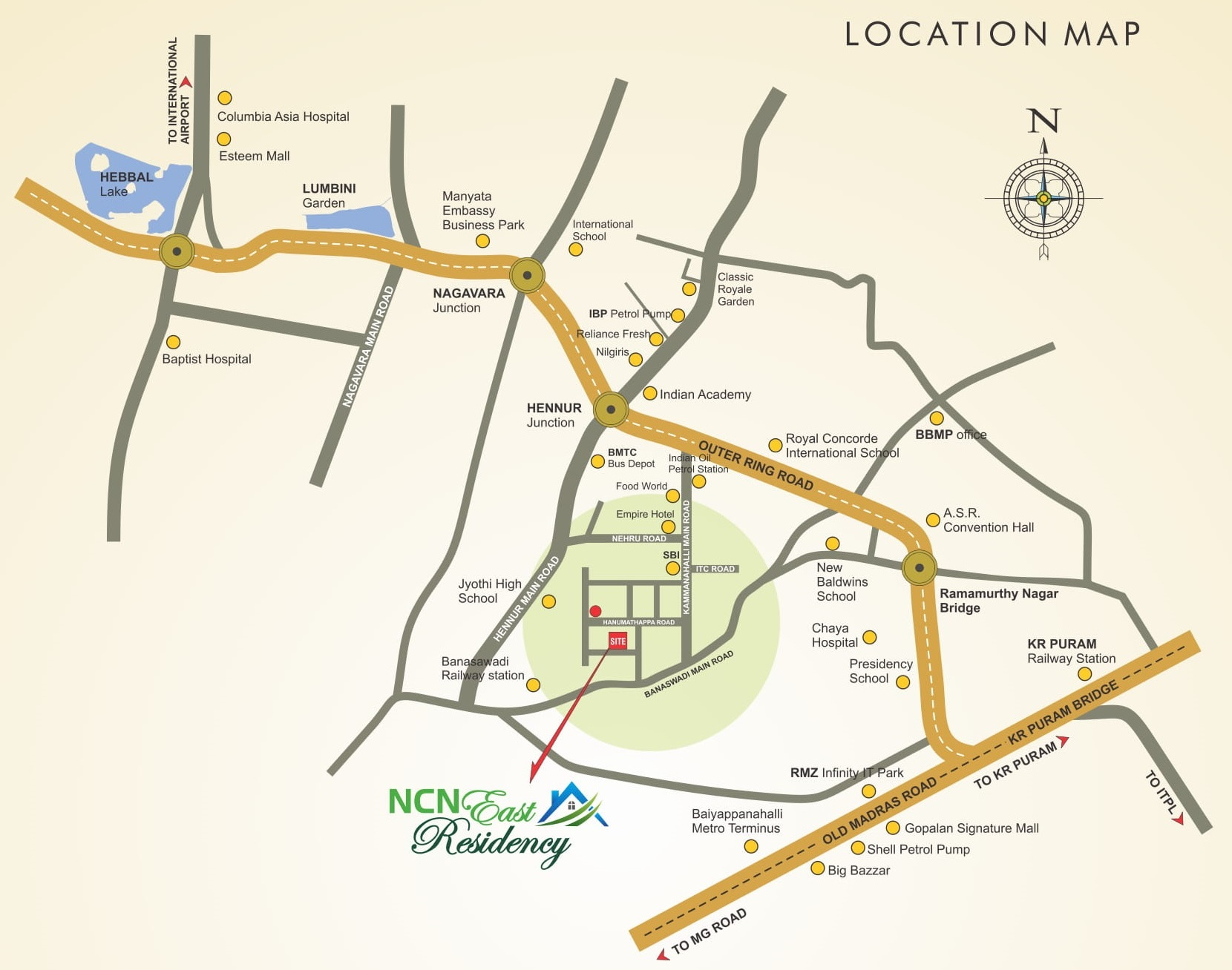 NCN East Residency Location Map