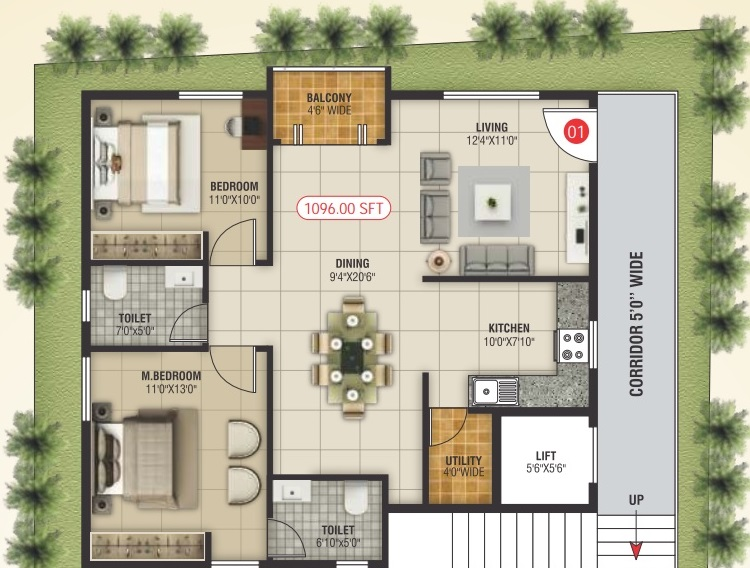NCN East Residency Floor Plan