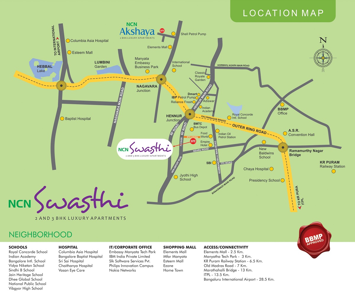 NCN Swasthi Location Map